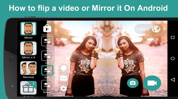 how to flip a video or Mirror it on android